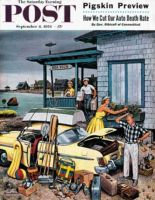Saturday Evening Post, September 8, 1956 - Packing the Car
