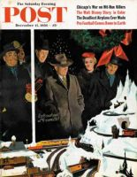 Saturday Evening Post, December 15, 1956 - Christmas Train Set