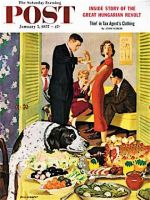 Saturday Evening Post, January 5, 1957 - Doggy Buffet