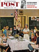 Saturday Evening Post, February 16, 1957 - Setting the Table