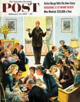 Saturday Evening Post, February 23, 1957 - Dinner Buffet