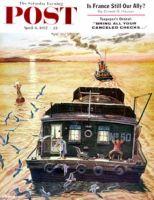 Saturday Evening Post, April 6, 1957 - Barges