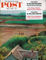Saturday Evening Post, May 4, 1957, - Train Going By