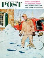 Saturday Evening Post, March 1, 1958 - Heating Oil Delivery