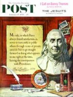 Saturday Evening Post, January 17, 1959 - Ben Franklin, bust and quote