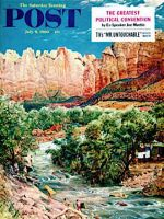 Saturday Evening Post, July 9, 1960 - Zion Canyon