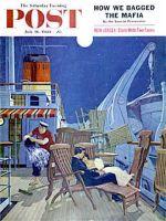 Saturday Evening Post, July 16, 1960 - Romantic Night on Deck