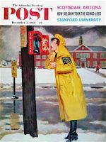 Saturday Evening Post, December 3, 1960 -  Crossing Guard Fixing Her Makeup