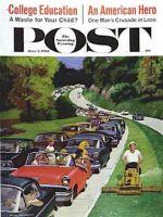 Saturday Evening Post, June 2, 1962 -  Speeder on the Median