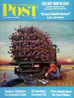 Saturday Evening Post, November 24, 1962 - Turkey Truck Has Flat