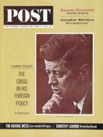 Saturday Evening Post, April 6, 1963 - Serious Portrait of Kennedy