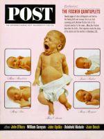 Saturday Evening Post, November 16, 1963 - Fischer Quints
