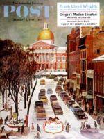 Saturday Evening Post, January 7, 1961 -  Park Street, Boston