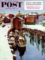 Saturday Evening Post, February 4, 1961 - Gloucester Harbor in Winter