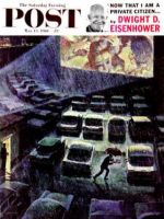 Saturday Evening Post, May 13, 1961 - Drive-In Movie in the Rain