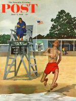 Saturday Evening Post, June 17, 1961 - Cold Water Swimmer