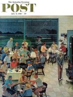 Saturday Evening Post, July 8, 1961 - Clubhouse on Rainy Day
