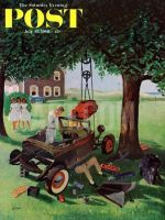 Saturday Evening Post, July 15, 1961 - Working on the Jalopy