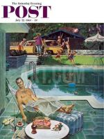 Saturday Evening Post, July 22, 1961 - Unwelcome Pool Guests