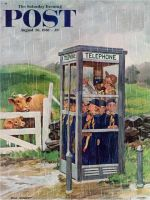 Saturday Evening Post, August 26, 1961 - Cub Scouts in Phone Booth