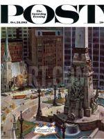 Saturday Evening Post, October 28, 1961 - Monument Circle