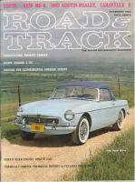 Car Magazine, November 1, 1962 - Road & Track