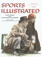 Sports Illustrated, October 8, 1956 - Paul Brown w/QB George Ratterman