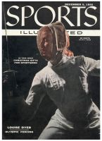 Sports Illustrated, December 5, 1955 - Louise Dyer, Fencing