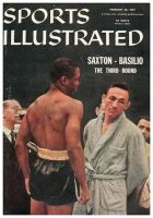 Sports Illustrated, February 25, 1957 - Saxton vs. Basilio Boxing