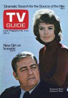 TV Guide, February 5, 1972 - Raymond Burr, Elizabeth Baur