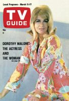 TV Guide, March 11, 1967 - Dorothy Malone: The Actress and the Woman