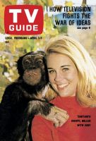 TV Guide, April 1, 1967 - Daktari's Cheryl Miller with Judy