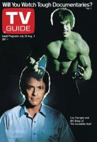TV Guide, July 28, 1979 - Lou Ferrigno and Bill Bixby of 'The Incredible Hulk'