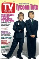 TV Guide, August 7, 1993 - The Olsen Twins