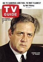 TV Guide, September 16, 1967 - Raymond Burr of 'Ironside'