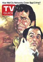 TV Guide, August 20, 1977 - James Garner and Joe Santos of 'The Rockfords Files'