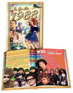 1988 MiniBook: 33nd Birthday or Anniversary Gift