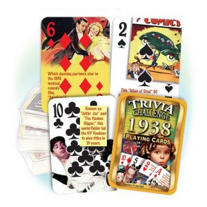1938 Trivia Challenge Playing Cards: 82th Birthday or Anniversary Gift