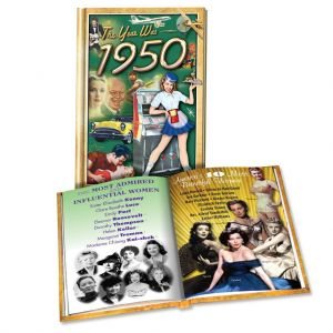1950 MiniBook: 70th Birthday or Anniversary Gift