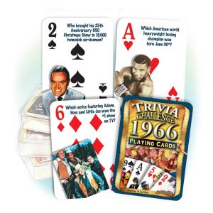 1966 Trivia Challenge Playing Cards: 55rd Birthday or Anniversary