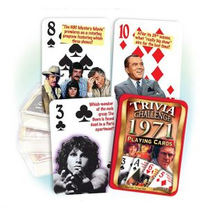 1971 Trivia Challenge Playing Cards: 50th Birthday or Anniversary Gift