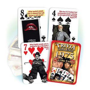 1975 Trivia Challenge Playing Cards: 46rd Birthday Anniversary Gift