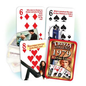 1979 Trivia Challenge Playing Cards: 42th Birthday or Anniversary Gift