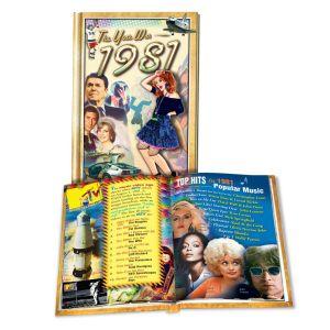1981 MiniBook: 39th Birthday or Anniversary Gift