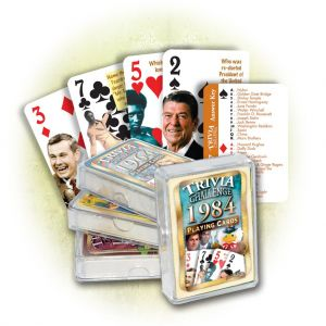 1984 Trivia Challenge Playing Cards: 37th Birthday or Anniversary Gift