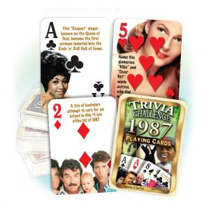 1987 Trivia Challenge Playing Cards: 34nd Birthday or Anniversary Gift