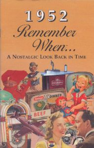 1952 Remember When Booklet