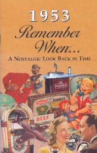 1953 Remember When Booklet
