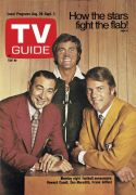 TV Guide, August 28, 1971 - Monday night football announcers: Howard Cosell, Don Meredith, Frank Gifford