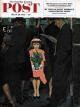 Saturday Evening Post, March 28, 1953 - Subway Girl and Easter Lily